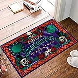 Brawvy Welcome Door Mat,Happy Halloween Dangerous Magical Game Ouija Board Decorative Indoor Doormat Non Slip Front Door Mat,Low Profile Mat for Entry Patio Garage 16x24 Inch