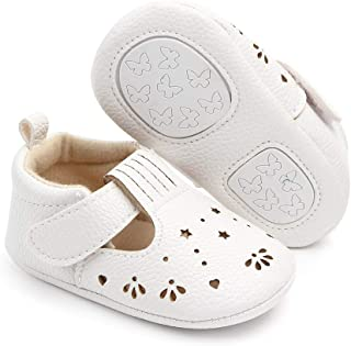 Csfry Infant Baby Girl Mary Jane Flats Toddler Shoes