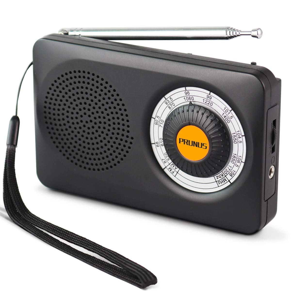 PRUNUS J-115 Pequeña Radio Portátil, Am FM Radio Analógica de Bolsillo, Radio de Transistor a Batería con Auriculares, Antena Giratoria de 360 °, 2 Pilas AA (No Incluidas): Amazon.es: Electrónica