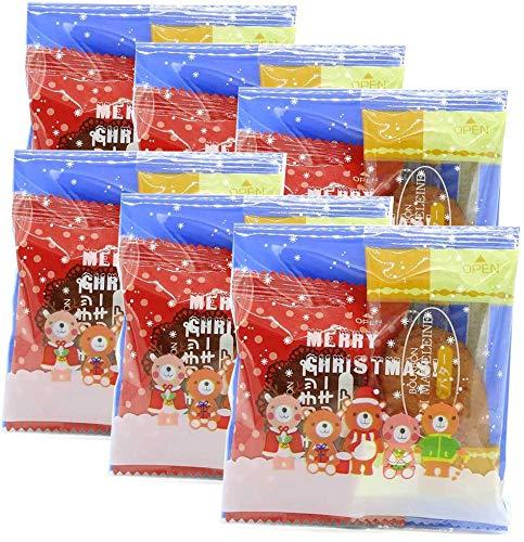 クリスマス お菓子 詰め合わせ 6個セット マドレーヌ ビスケット 国産 ノベルティ ラッピング パーティ 誕生日 子供会 プレゼント ギフト