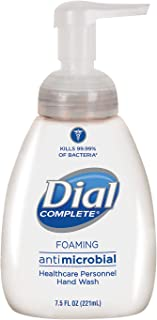 Dial Complete 81075 Healthcare Antimicrobial Foaming Hand Wash with Lotion, 7.5 oz Tabletop Pump (Case of 12)