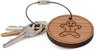 Ginger Biscuit Keychain, Wood Twist Cable Keychain - Small