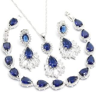 Best blue water drop necklace Reviews