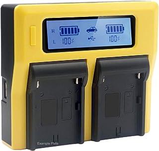 PATONA - Compatible con la batería Canon LP-E6 LP-E6N - Cargador Doble/Pantalla LCD/Salida USB