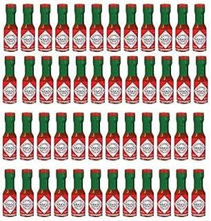 Tabasco Original Pepper Sauce Mini Bottles 1/8 Ounce Pack of 48 Little Real Glassbottles