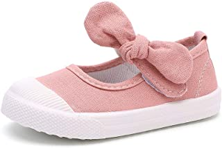 Girl's Flower Bow Canvas Shoes Lightweight Sneakers Cute...