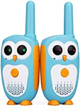 Retevis RT30 Kids Walkie Talkie Owl Appearance 1Channel 2Button Toys and Gifts for Boys and Girls(Blue,1 Pair)