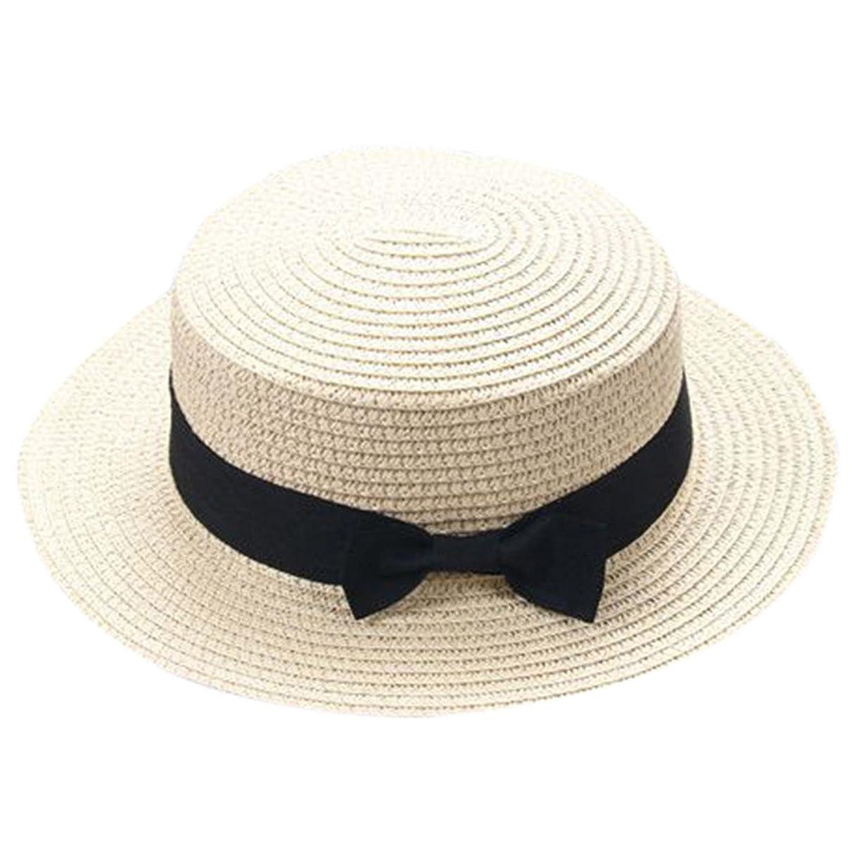 こどもの宮殿枯渇表示キャップ キッズ 日よけ 帽子 小顔効果抜群 旅行用 日よけ 夏 ビーチ 海辺 かわいい リゾート 紫外線対策 男女兼用 日焼け防止 熱中症予防 取り外すあご紐 つば広 おしゃれ 可愛い 夏 ROSE ROMAN