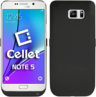 Cellet External Battery Charger Case 5200mAh with Kickstand for Samsung Galaxy Note 5