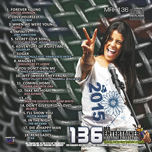 Mr Entertainer Karaoke MRH136 Chart Hits Vol 136 December 2015 CDG