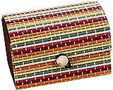 HJ Caja de joyería para el hogar Caja de tesoro para damas de gran capacidad Forma Cortina de bambú creativa Artículos diversos Anillo Caja de almacenamiento de joyas,Color