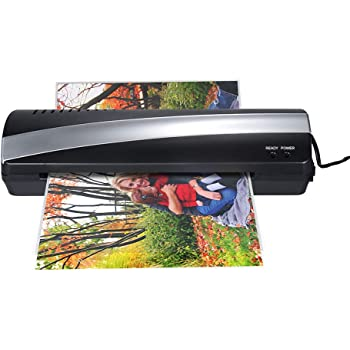 Amazon Com Laminating Machine A4 Photo Laminator Paper Film Document Thermal Hot Cold Office Products