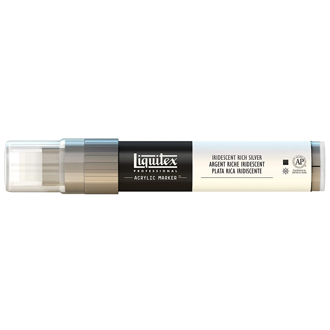 Liquitex Professional Wide Paint Marker, Iridescent Rich Silver