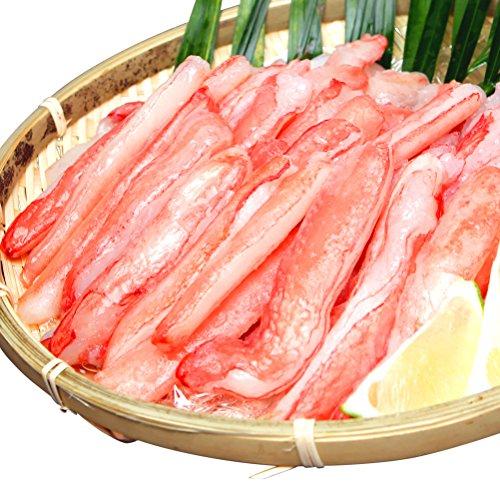 OWARI 生本ズワイガニ 刺身用 カニ脚剥き身(ポーション) 冷凍 1kg(30〜70本入)