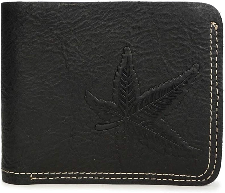 0b6a15a6075f4 NLJ-YMS Wallet Premium-Leder M auml nner Brieftasche Faltbare Faltbare  Faltbare Karte Pack Geldb ouml rse Schwarz B07HY2X19K e23bce