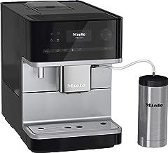 آلة القهوة Miele CM 6350: أوتوماتيكي بالكامل، 7 مشروبات القهوة، رغوة الحليب الكريمي، وظيفة وعاء القهوة، 4 ملفات للمستخدمين...