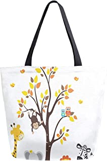 Reusable Grocery Shopping Bag Hawksbill Turtle Womens Canvas Tote Bags Foldable Shoulder Handbags