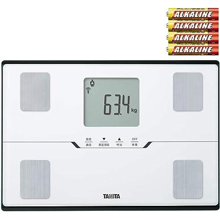 [セット品] 体組成計 予備電池付き2点セット Bluetooth通信 TANITA(タニタ) 体組成計 BC-768-WH(BC768WH) パールホワイト スマートフォン通信対応エントリーモデル