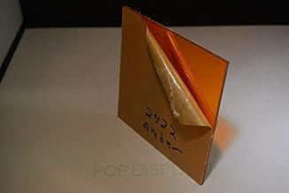 "Amber Acrylic PLEXIGLASS Sheet Color #2422 1/4"" x 24"" x 16"""