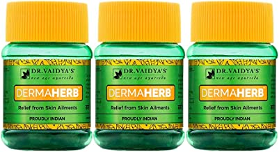 Dr. Vaidya's New Age Ayurveda | Dermaherb | Ayurvedic Pills For Acne, Itching, Boils and Other Skin Ailments | 30 Pills Ea...