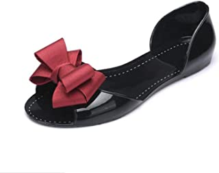 Strawberry Women Sandals Summer Jelly Shoes Women Casual Flat Fashion Butterfly-Knot Sandals for Women Size 35-40
