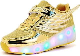 Led Luces Zapatos con Ruedas para Pequeños Niño y Niña Automática Calzado de Skateboarding Deportes de Exterior Patines en...