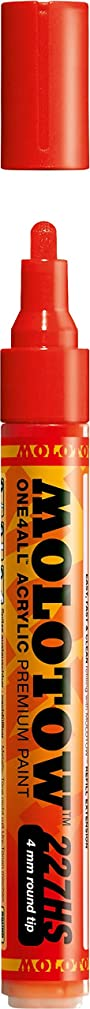 Molotow ONE4ALL Acrylic Paint Marker, 4mm, Traffic Red, Blister Carded, 1 Each (227.202BC)