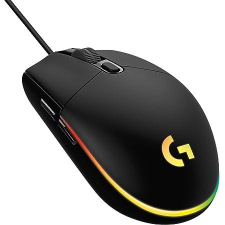 Logitech G203 LIGHTSYNC Mouse Gaming con Illuminazione RGB, Personalizzabile, 6 Pulsanti Programmabili, Sensore per Gaming, Tracciamento a 8.000 DPI, Peso Ridotto - Nero