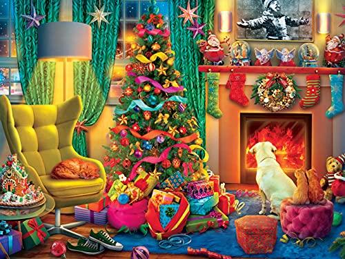 Ceaco - Tis' The Season Holiday Christmas 550 Piece Jigsaw Puzzle, Cozy Christmas