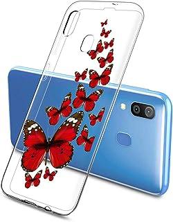 Oihxse Silicone Transparente Case avec Motif Papillon Compatible pour Samsung Galaxy J4 Coque Souple TPU Gel Mode 3D Dessi...