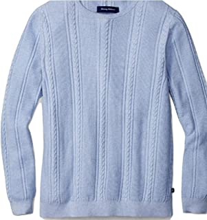 Tommy Bahama Marled Sands Cable Crewneck Sweater