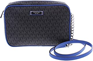 447fc0e28ac99 MICHAEL Michael Kors Womens Jet Set Chain Crossbody Handbag Black Small