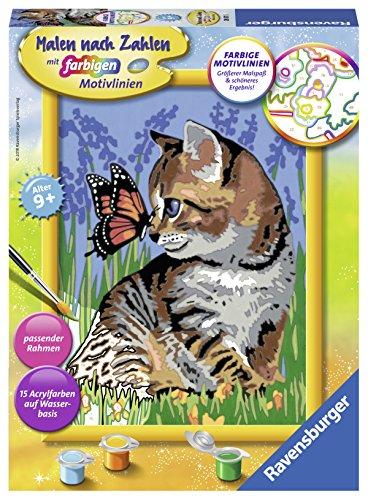 Ravensburger Malen nach Zahlen 28651 - Katze mit Schmetterling