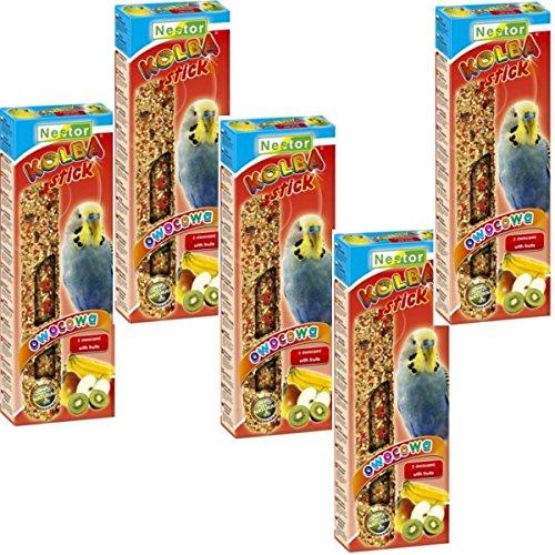 NESTOR Vogelfutter Wellensittiche mit Frucht 5x2 Packungen Knabbersticks
