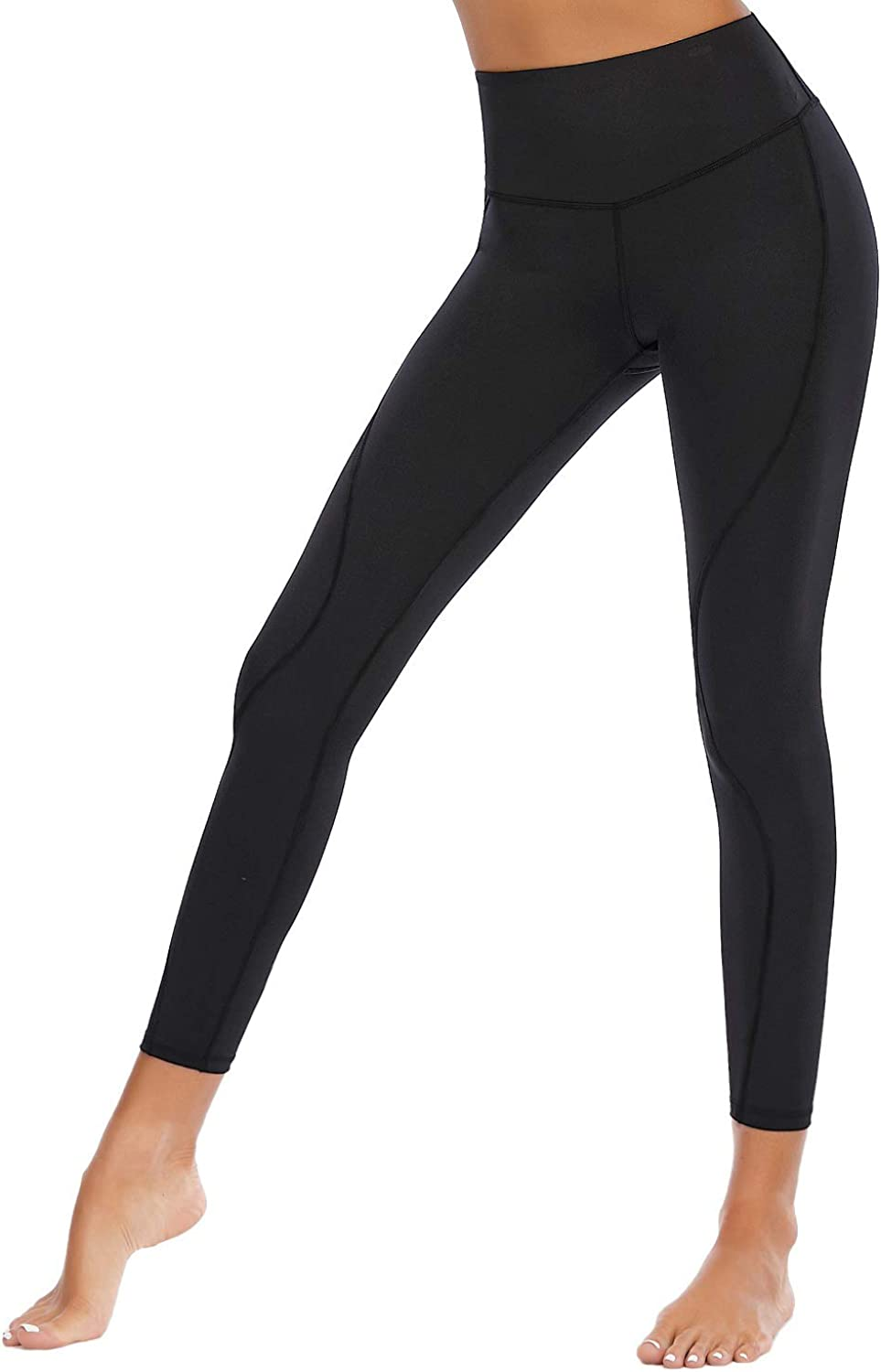 CSTOWN Workout Leggings for Women Tummy Control High Waisted Yoga Pants 4-Way Stretch Running Pants