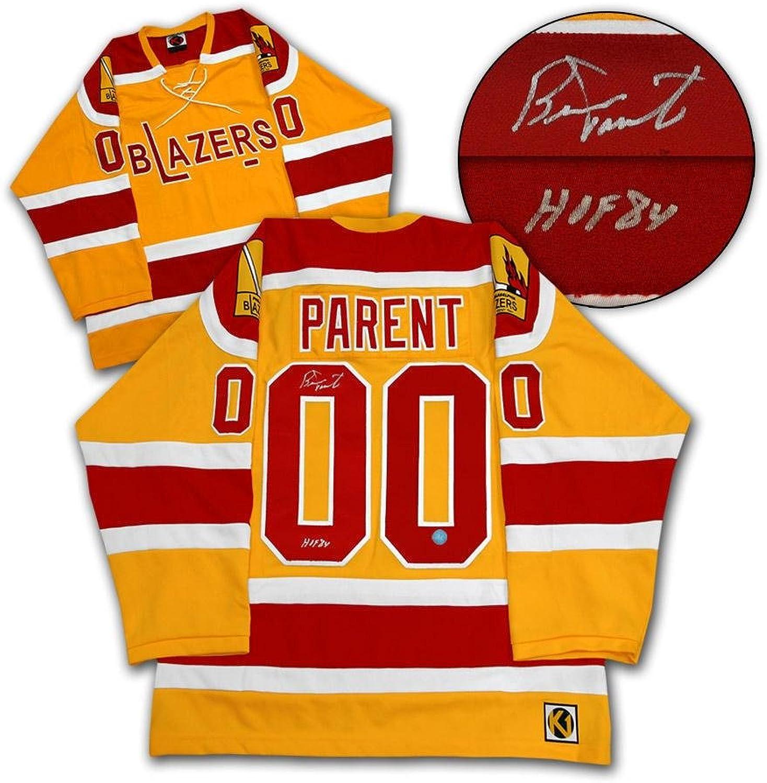 Autographed Bernie Parent Uniform  Philadelphia Blazers WHA  Autographed NHL Jerseys