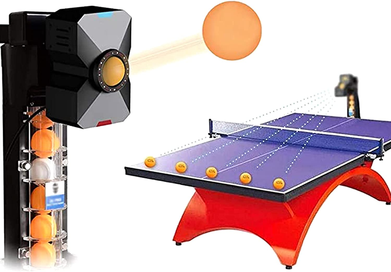 MIMI KING Robot De Tenis Mesa, Máquina Pelotas Ping Pong, Máquina Automática Tenis Mesa con Control Remoto Inalámbrico para Entrenamiento, Entrenador Deportes Interior con 100 Pelotas Tenis Mesa