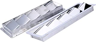 Amarine Made 2Pcs Boat Marine Stainless Steel Vent - 5 Louver: 12-3/4 X 4-3/8 - 7727S5