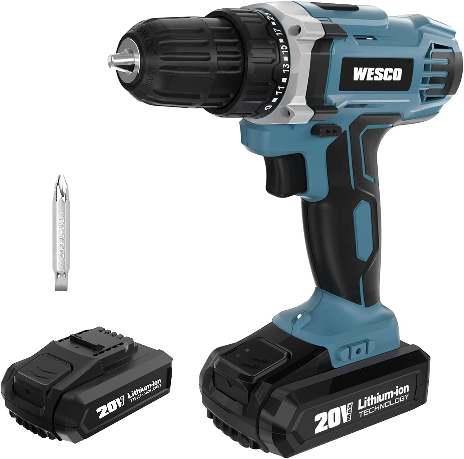 POWER Cordless Drill 20V Screwd WESCO High quality Ranking TOP4 Driver