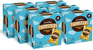 Thinsters Cookie Thins Bulk Pack Chocolate Chip, 1 Ounce (Pack of 60), Non GMO, Peanut Free