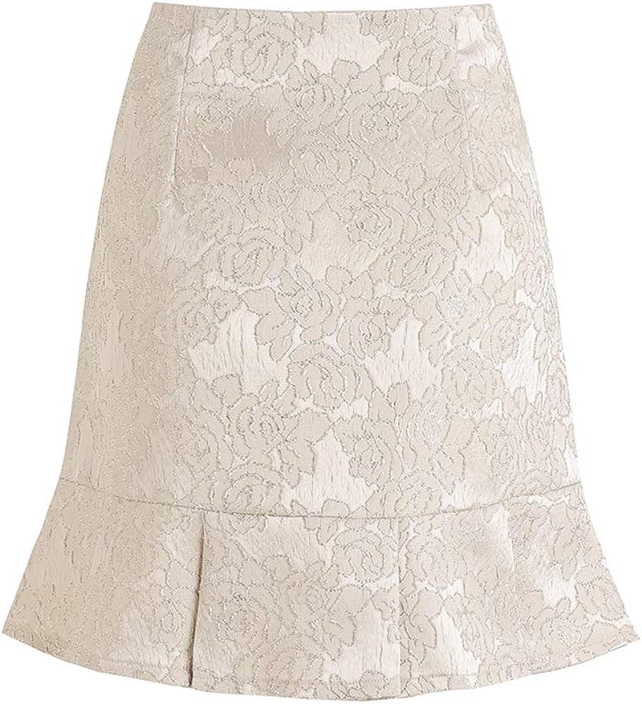 YISHIWEI Women's Mini Skirts Basic Versatile Ruffled Pleated Floral Skirts for Women