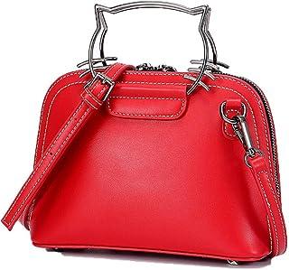 LIMING Oil Wax Leather Ladies Shoulder Bag Girl Backpack Handbag Student Diagonal Bag (Color : Purple, Size : 23 * 8 * 17c...