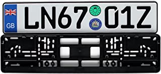Great Britain Euro Plate Package with Registration Seals - Plate, Frame & Mounting Screws
