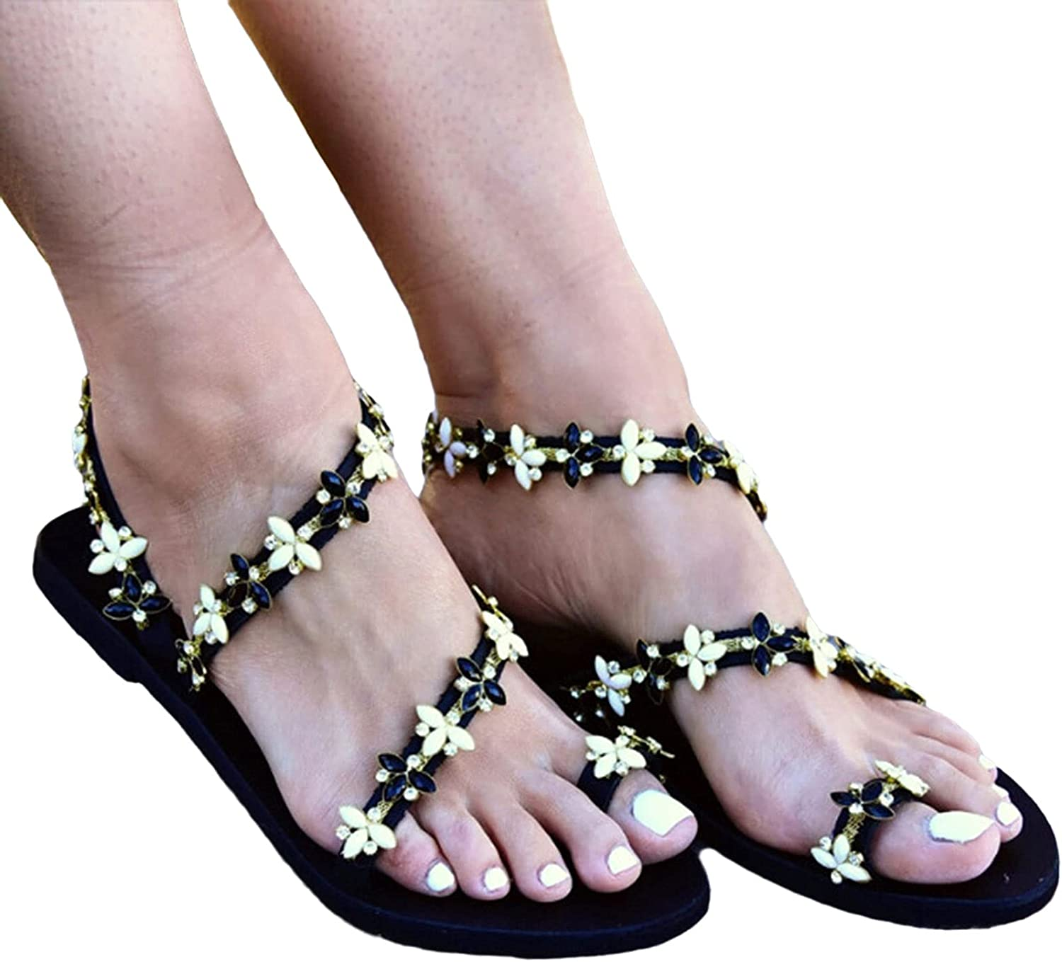 tayer Womens Flat Studded Strap Sandal Sandals Beach Super Topics on TV special price Summer Boho