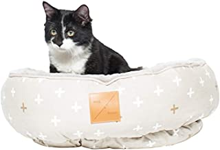 MOG & BONE Four Seasons Reversible Cat Bed Oat Metallic Crss