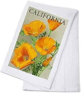 California - Poppies (100% Cotton Kitchen Towel)