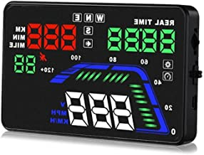 Pyle Universal 5.5'' Car HUD Head-Up Display Multi-Color Windshield Screen Projector Vehicle Speed & GPS Navigation Compass, Plug & Play, With Speed, Time, Altitude & More (PHUD15)
