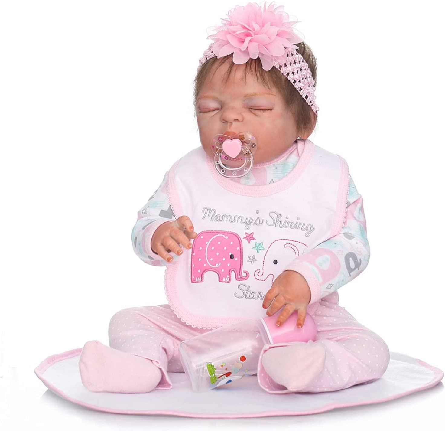 Baltimore Mall YANRU Reborn Real Baby 22 In 55 - Girl Dolls Can cm Outlet ☆ Free Shipping Sit