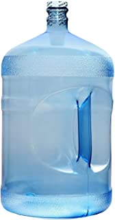For Your Water 5 Gallon 18.92 Liter Polycarbonate Plastic Reusable Water Bottle Container Jug with Handle (Made in USA) 48MM Screw Cap 10.75