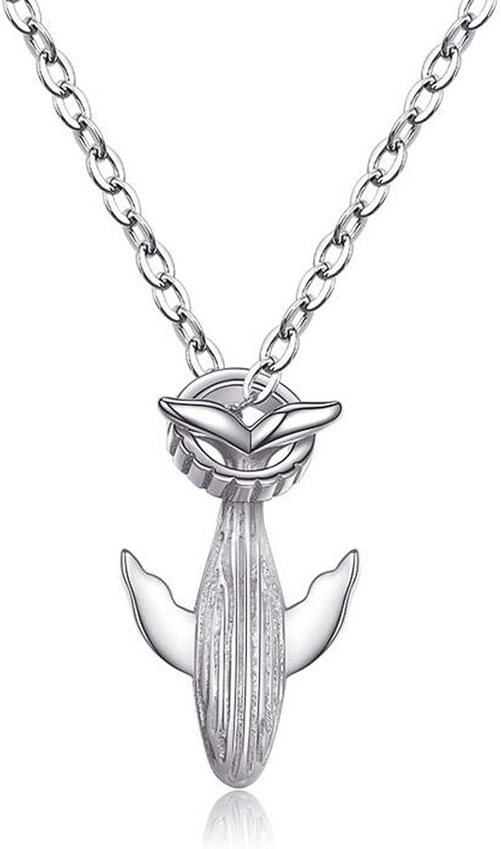 TITANSTEN 925s Sterling Silver 52 Hz Whale Couple Pendant